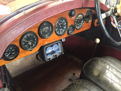 GaugePilot installed on a 1924 Bentley for the Alpine Trial